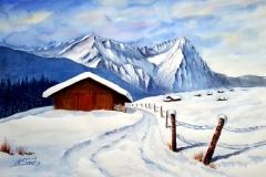 Winter an der Zugspitze