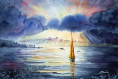 Boot im Licht