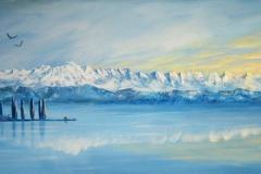 Panorama--Churfirsten/ Acryl