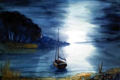 Ruhe in Maurach mit Boot