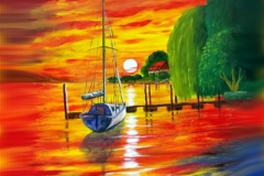 Sunset-Maurach-Acryl