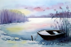 Boot im Winterschlaf