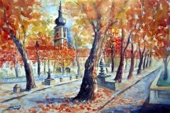 21-Heiligenkreuz im Laub des Herbstes