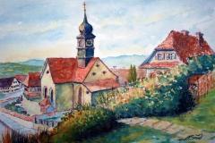 21-Weildorfer Kirche mit Pfarrhaus