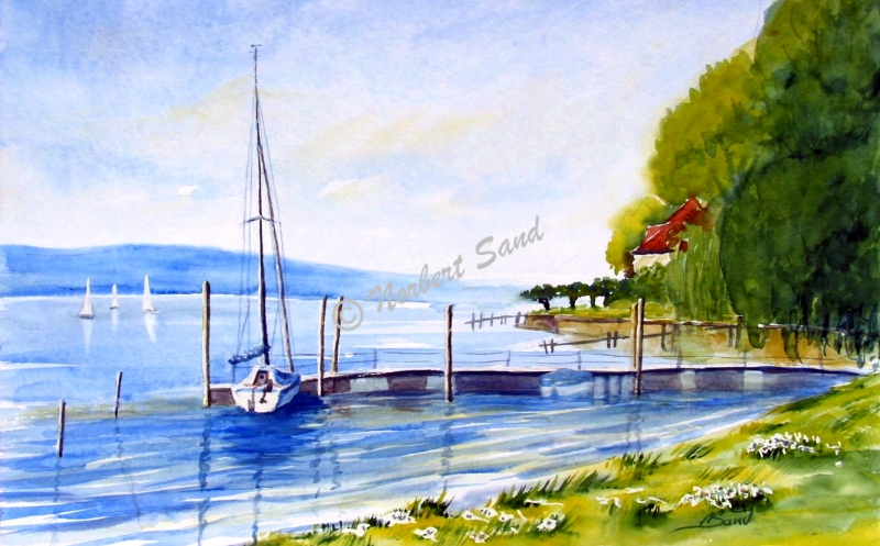 Seestück mit Boot