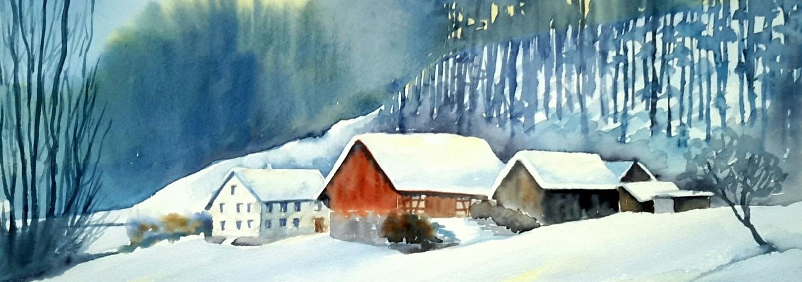 07-Winterlicher Bauernhof